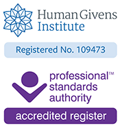 Human Givens Institute practitioner - Professional Standards Accredited
